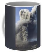 Eruption Of Ash Cloud From Mount Bromo Coffee Mug