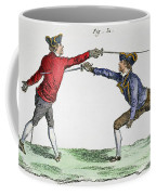 Fencing, 18th Century Coffee Mug