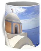 Fira - Santorini Coffee Mug by Joana Kruse