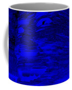 Gentle Giant In Negative  Blue Coffee Mug