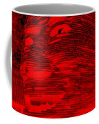 Gentle Giant In Negative Red Coffee Mug