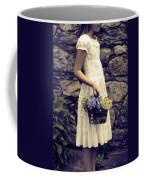 Girl With Flowers Coffee Mug by Joana Kruse