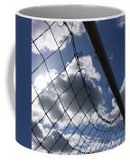 Goal Against Cloudy Sky. Coffee Mug