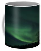 Green Aurora Above Far Lake Coffee Mug