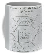 Horoscope Chart For Louis Xiv, 1661 Coffee Mug by Science Source