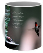 Hummingbird Card Coffee Mug
