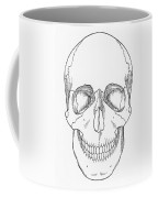 Illustration Of Anterior Skull Coffee Mug