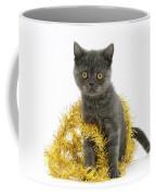 Kitten With Tinsel Coffee Mug