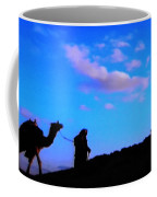 2 Late Evening Beduin Camel Walk In The Desert  Coffee Mug