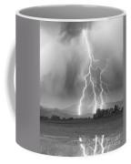 Lightning Striking Longs Peak Foothills 6 Coffee Mug by James BO  Insogna