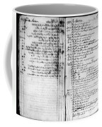 Madison: Account Book Coffee Mug