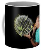 Man Over-inflating Balloon Coffee Mug
