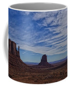 Morning Clouds Over Monument Valley Coffee Mug