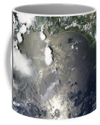 Oil Slick In The Gulf Of Mexico Coffee Mug by Stocktrek Images