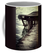 Old Wooden Pier With Stairs Into The Lake Coffee Mug