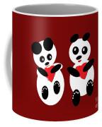 2 Pandas In Love Coffee Mug