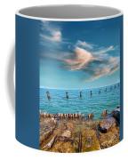 Pier Posts Coffee Mug