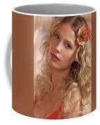 Portrait Of A Beautiful Young Woman Coffee Mug