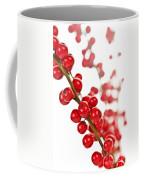 Red Christmas Berries Coffee Mug by Elena Elisseeva