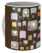 retro TV pattern  Coffee Mug by Setsiri Silapasuwanchai