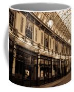 Sepia Toned Image Of Leadenhall Market London Coffee Mug