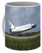 Space Shuttle Discovery Lands On Runway Coffee Mug