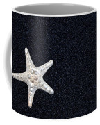 Starfish On Black Sand Coffee Mug by Joana Kruse