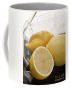 Still Life Of Bottles  And Lemons Coffee Mug