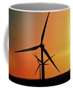 Sun Glare Upon Alberta Windfarm Coffee Mug