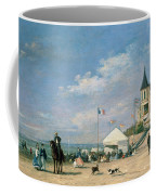 The Beach At Trouville Coffee Mug