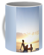 Two Friends Enjoy The Sunset Coffee Mug by Taylor S. Kennedy