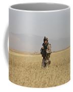 U.s. Marine Patrols A Wadi Near Kunduz Coffee Mug