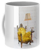 Victorian Sofa In White Room Coffee Mug