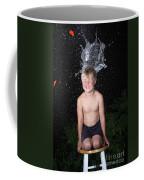 Water Balloon Popped Above Boys Head Coffee Mug