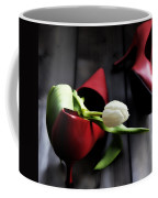 White And Red Coffee Mug
