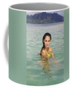 Woman At Kaneohe Sandbar Coffee Mug