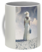 Woman With Suitcase Coffee Mug