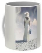 Woman With Suitcase Coffee Mug by Joana Kruse