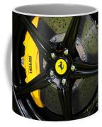 2012 Ferrari 458 Spider Brake Pad Yellow Coffee Mug