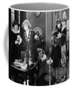 Silent Film Still: Drinking Coffee Mug