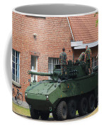 A Belgian Army Piranha IIic Coffee Mug