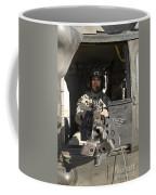 A Uh-60 Black Hawk Door Gunner Manning Coffee Mug