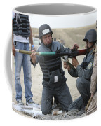 An Afghan Police Student Loads A Rpg-7 Coffee Mug
