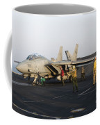 An F-14d Tomcat In Launch Position Coffee Mug
