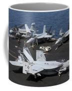 An Fa-18e Super Hornet During Flight Coffee Mug
