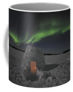 Aurora Borealis Over An Igloo On Walsh Coffee Mug by Jiri Hermann