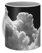 Black And White Sky With Building Storm Clouds Fine Art Print Coffee Mug