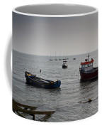 Boats Moored Off Of Leigh Essex Coffee Mug