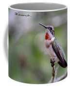 Hummingbird Card Coffee Mug
