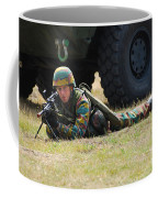 Infantry Soldiers Of The Belgian Army Coffee Mug by Luc De Jaeger